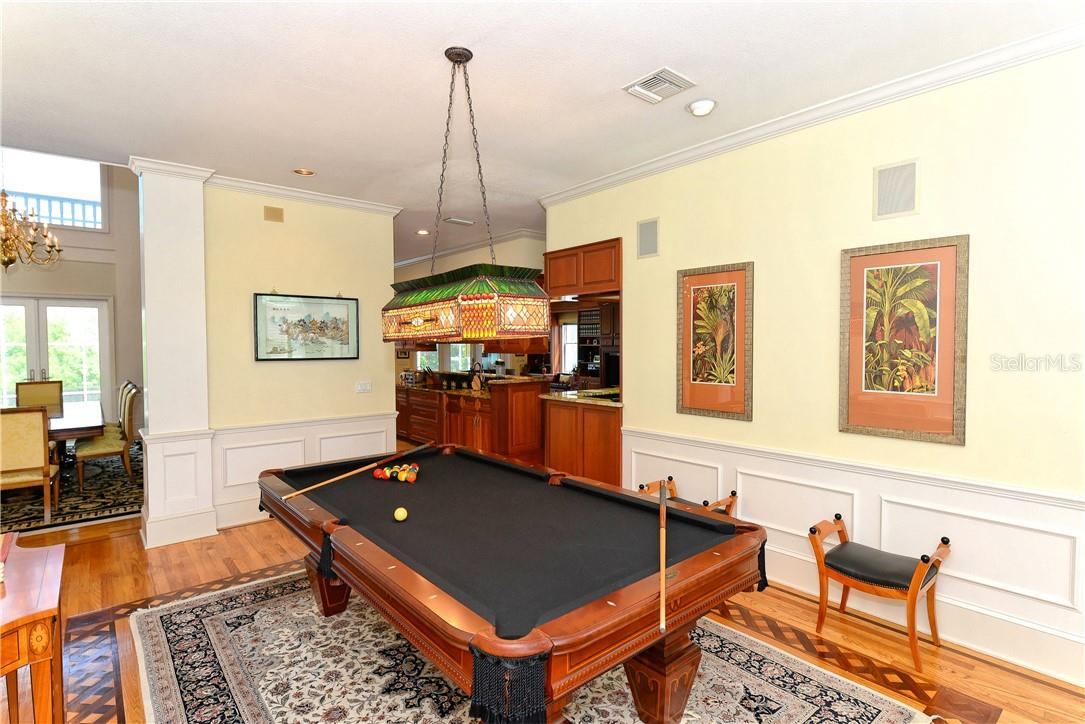 Billiard room or game room can be used as dining room as well. - Single Family Home for sale at 1427 Cedar Bay Ln, Sarasota, FL 34231 - MLS Number is A4408881