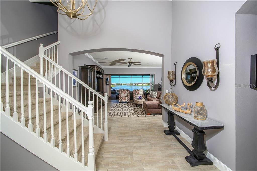 What a welcome in this foyer! - Single Family Home for sale at 5511 Tidewater Preserve Blvd, Bradenton, FL 34208 - MLS Number is A4413764