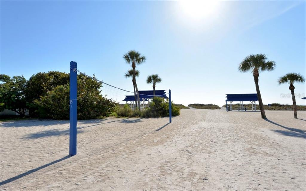 Volleyball net at the private Bay Isles Beach Club - Single Family Home for sale at 3529 Fair Oaks Ln, Longboat Key, FL 34228 - MLS Number is A4414992
