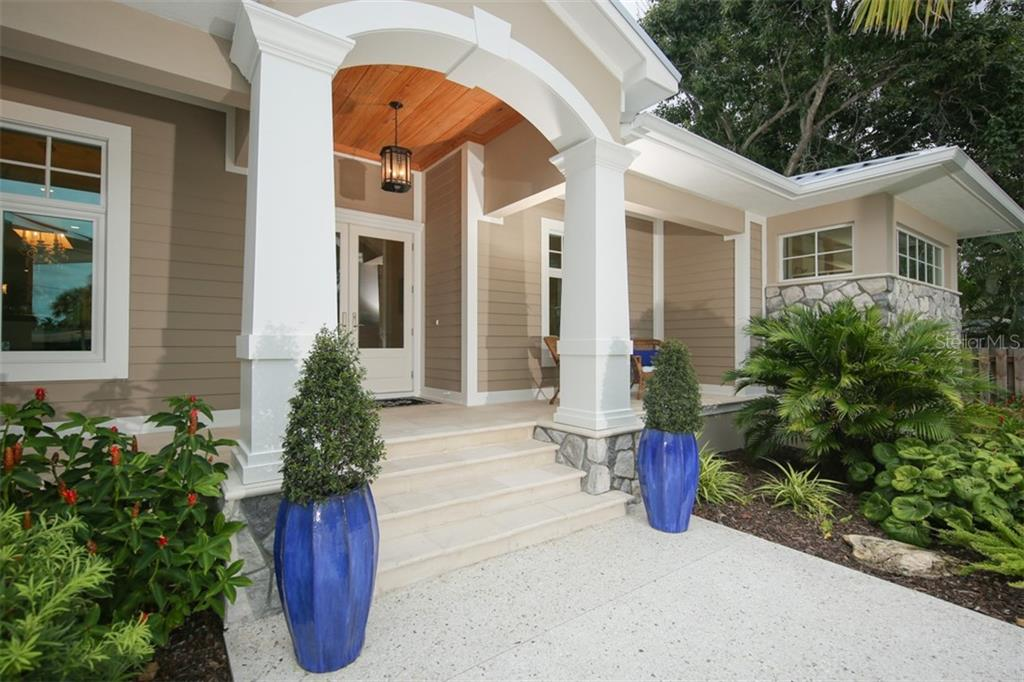 Front Door and Porch - Single Family Home for sale at 4847 Primrose Path, Sarasota, FL 34242 - MLS Number is A4415116