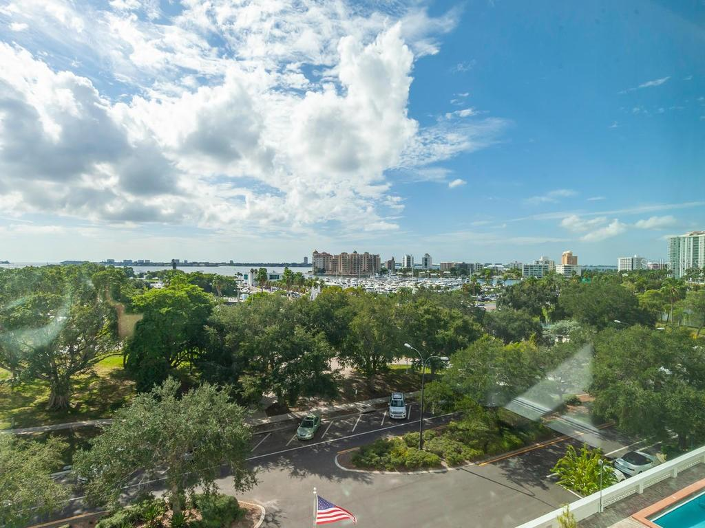 Direct full bay view from Living Room. - Condo for sale at 33 S Gulfstream Ave #706, Sarasota, FL 34236 - MLS Number is A4419314