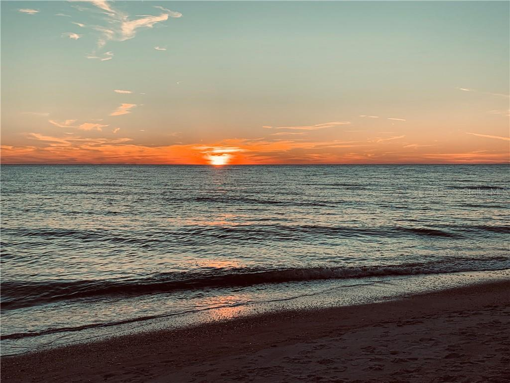 The sunsets at your beach that is only a short walk from your new waterfront lot - Vacant Land for sale at 700 Tarawitt Dr, Longboat Key, FL 34228 - MLS Number is A4420879