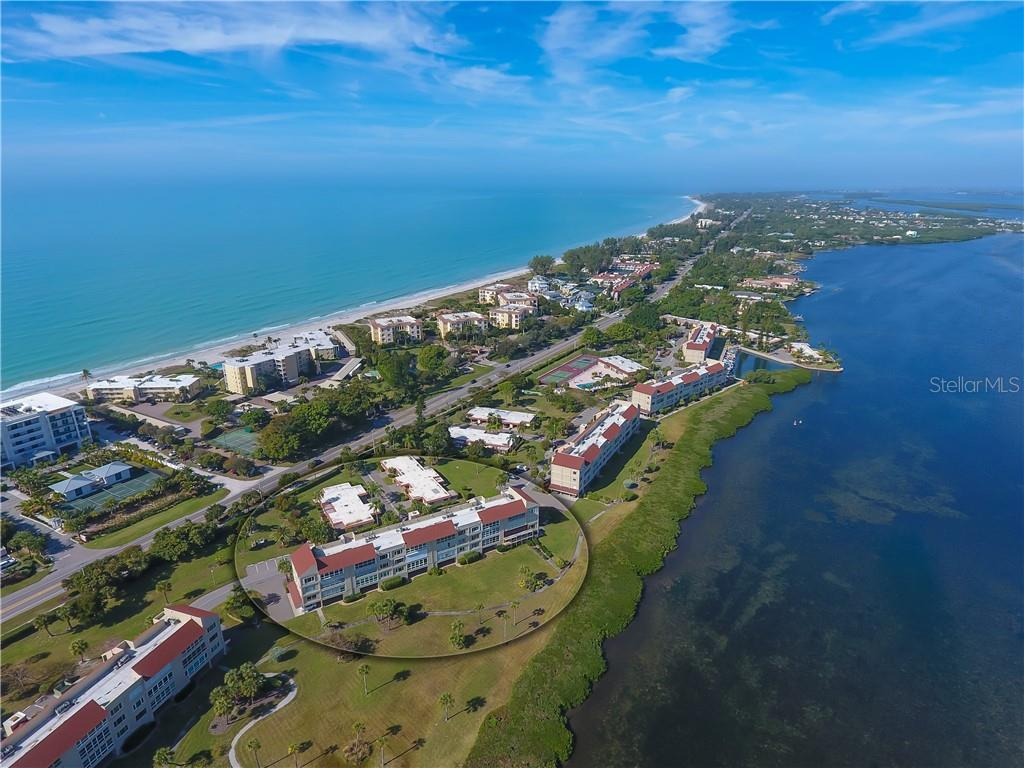 Your building is in the circle and the light drive way across from it on the left is your beach access. - Condo for sale at 4700 Gulf Of Mexico Dr #305, Longboat Key, FL 34228 - MLS Number is A4422164