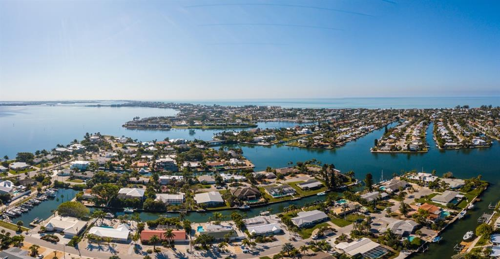 Aerial of Key Royale - Single Family Home for sale at 622 Dundee Ln, Holmes Beach, FL 34217 - MLS Number is A4426329
