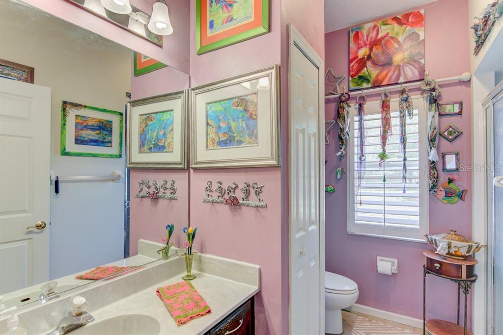 Such a cute bathroom in the Guest House! - Single Family Home for sale at 7945 Palmer Blvd, Sarasota, FL 34240 - MLS Number is A4431318