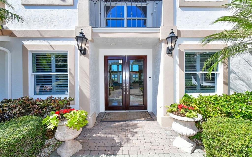 Front Door - Single Family Home for sale at 3809 Casey Key Rd, Nokomis, FL 34275 - MLS Number is A4437924