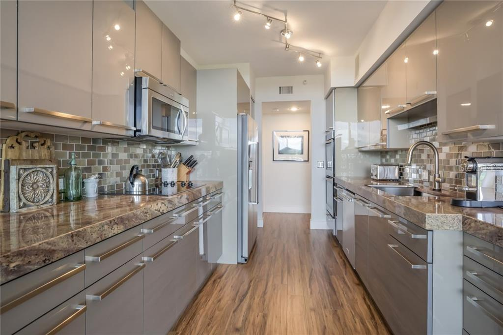 Renovated European Kitchen. - Condo for sale at 1800 Benjamin Franklin Dr #b408, Sarasota, FL 34236 - MLS Number is A4444789