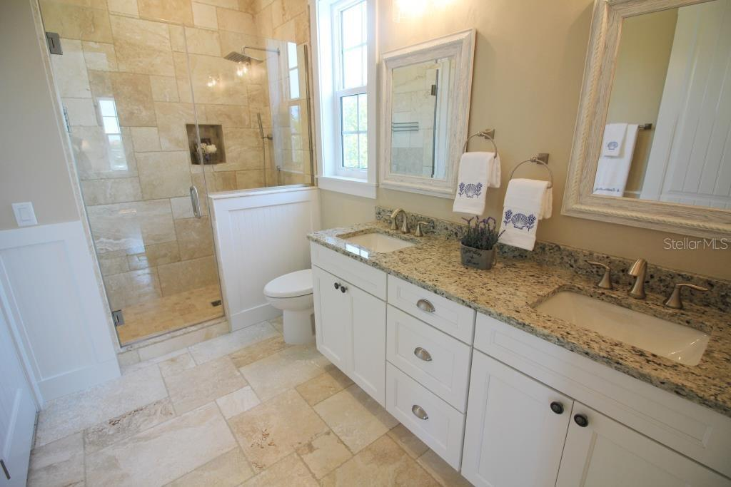Master Shower - Single Family Home for sale at 7010 Firehouse Rd, Longboat Key, FL 34228 - MLS Number is A4449332