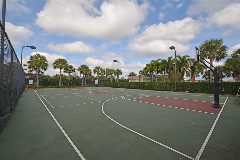 Community Tennis & Basketball Courts - Single Family Home for sale at 5799 Benevento Dr, Sarasota, FL 34238 - MLS Number is A4450677