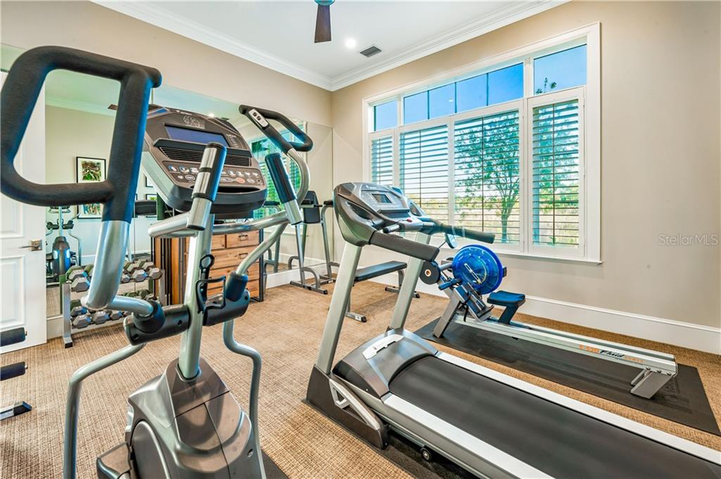 Exercise Room next to Office or an additional Flex Space. - Single Family Home for sale at 16119 Baycross Dr, Lakewood Ranch, FL 34202 - MLS Number is A4452632