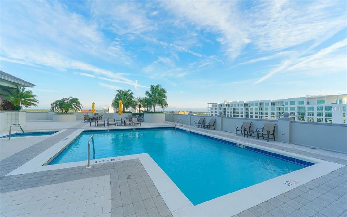 Rooftop Gazebo with Fireplace - Condo for sale at 50 Central Ave #16 South, Sarasota, FL 34236 - MLS Number is A4454416