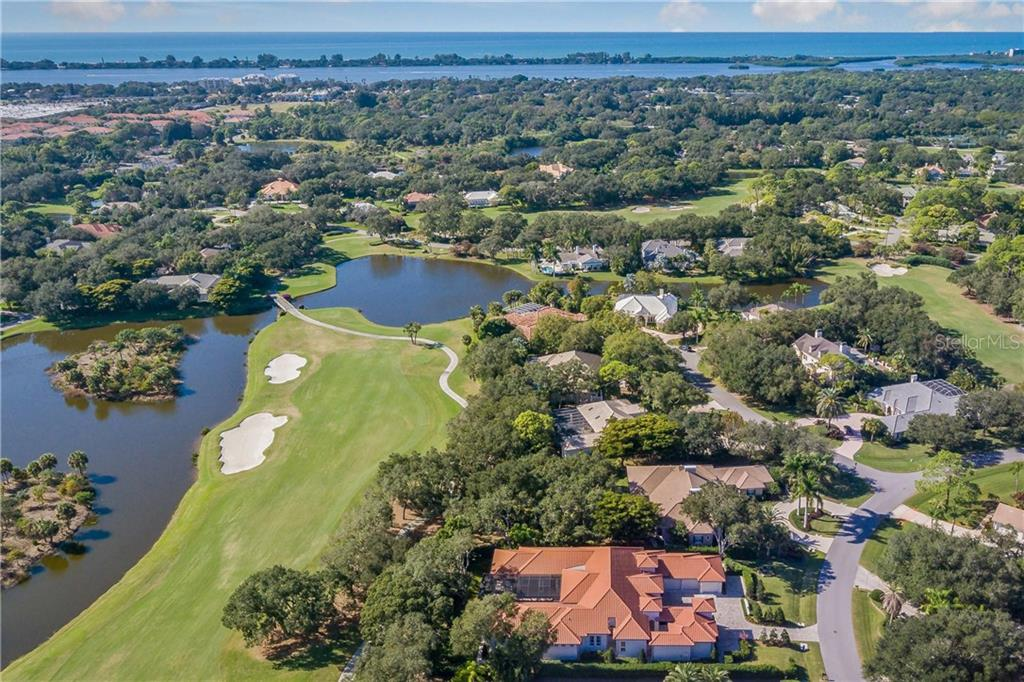 Nestled nicely on the  Heron Golf Course at The Oaks Club. Notice the proximity to the Gulf of Mexico. - Single Family Home for sale at 552 Eagle Watch Ln, Osprey, FL 34229 - MLS Number is A4454431