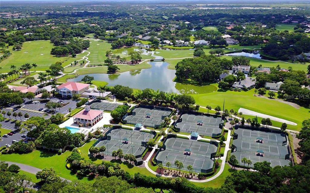 Aerial of community and amenities - Single Family Home for sale at 574 N Macewen Dr, Osprey, FL 34229 - MLS Number is A4455085