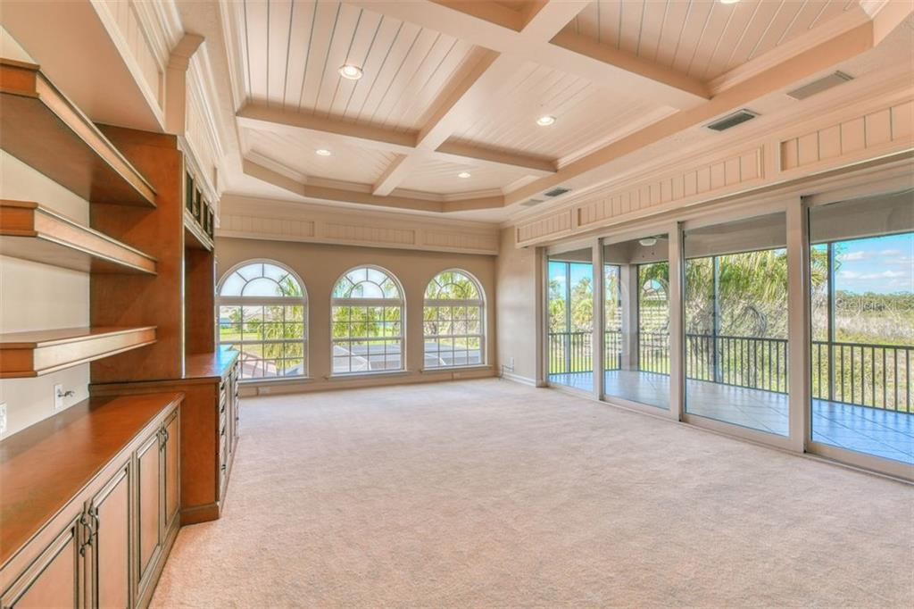 Second story bonus room, with its huge balcony - Single Family Home for sale at 3719 Founders Club Dr, Sarasota, FL 34240 - MLS Number is A4455099