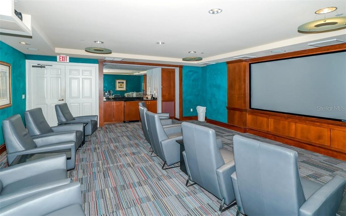 Theater room - Condo for sale at 100 Central Ave #A304, Sarasota, FL 34236 - MLS Number is A4458873
