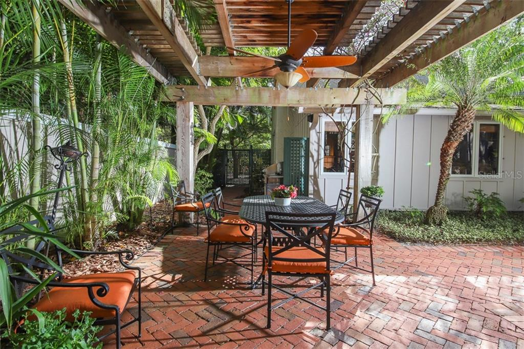 Perfect for entertaining outdoor meals - Single Family Home for sale at 3838 Flores Ave, Sarasota, FL 34239 - MLS Number is A4461669