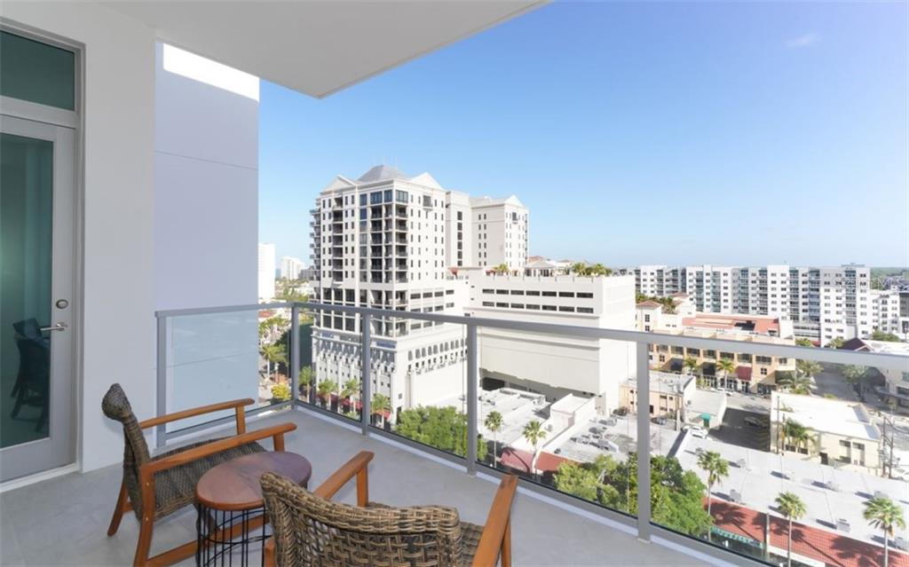 Balcony & view of Downtown Sarasota. - Condo for sale at 111 S Pineapple Ave #1117 L-1, Sarasota, FL 34236 - MLS Number is A4461778