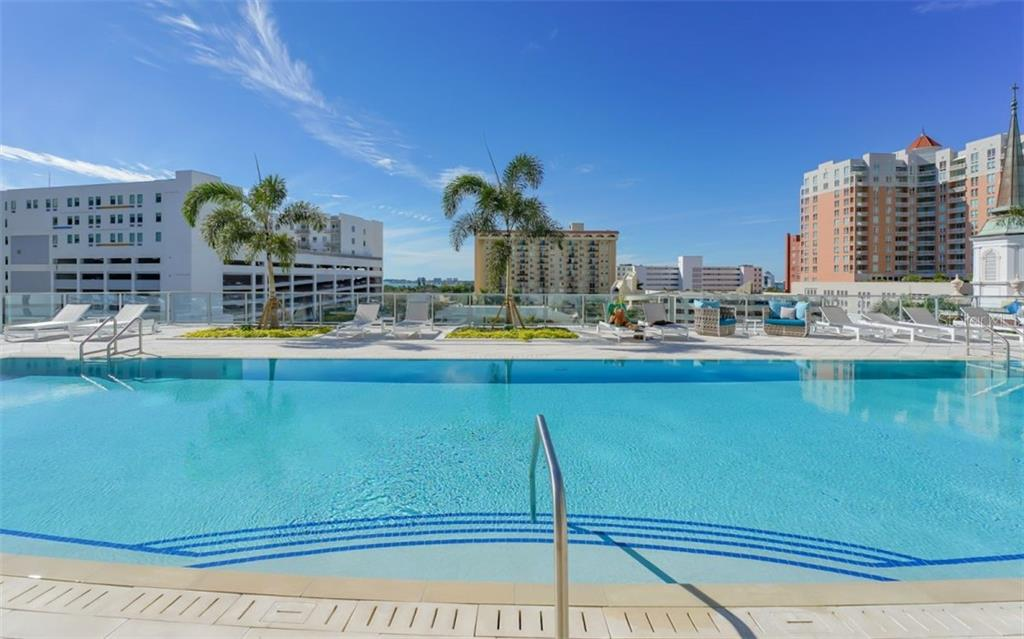 The Mark - Pool & view. - Condo for sale at 111 S Pineapple Ave #1117 L-1, Sarasota, FL 34236 - MLS Number is A4461778