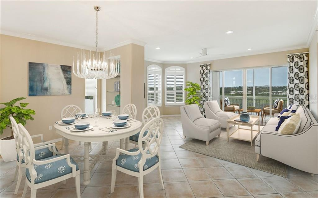 Virtually staged - Condo for sale at 5440 Eagles Point Cir #401, Sarasota, FL 34231 - MLS Number is A4469777