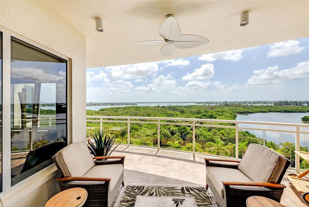 Master Bedroom W/Bay Views & Access to Bay Terrace - Condo for sale at 1300 Benjamin Franklin Dr #708, Sarasota, FL 34236 - MLS Number is A4471978
