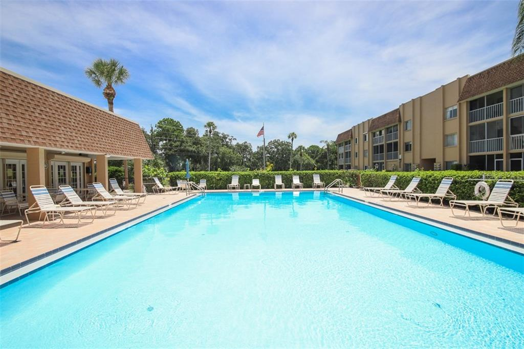 Great length for doing laps !! - Condo for sale at 1330 Glen Oaks Dr E #171d, Sarasota, FL 34232 - MLS Number is A4473999