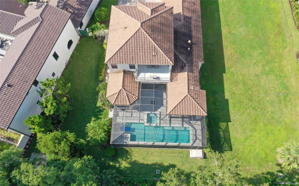 Overhead view of 3538 Trebor Lane - Single Family Home for sale at 3538 Trebor Ln, Sarasota, FL 34235 - MLS Number is A4475545
