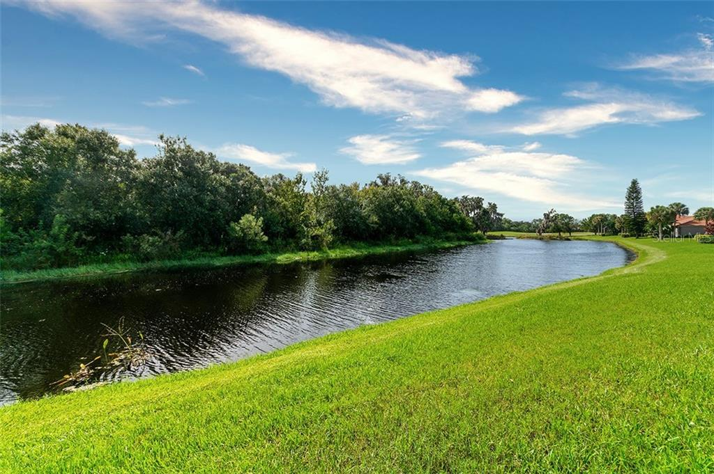 View from lanai - Single Family Home for sale at 701 Misty Pond Ct, Bradenton, FL 34212 - MLS Number is A4476203