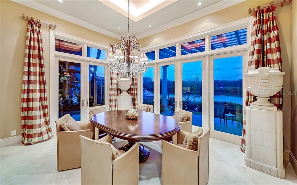 Dining Room - Single Family Home for sale at 35 Lighthouse Point Dr, Longboat Key, FL 34228 - MLS Number is A4477572