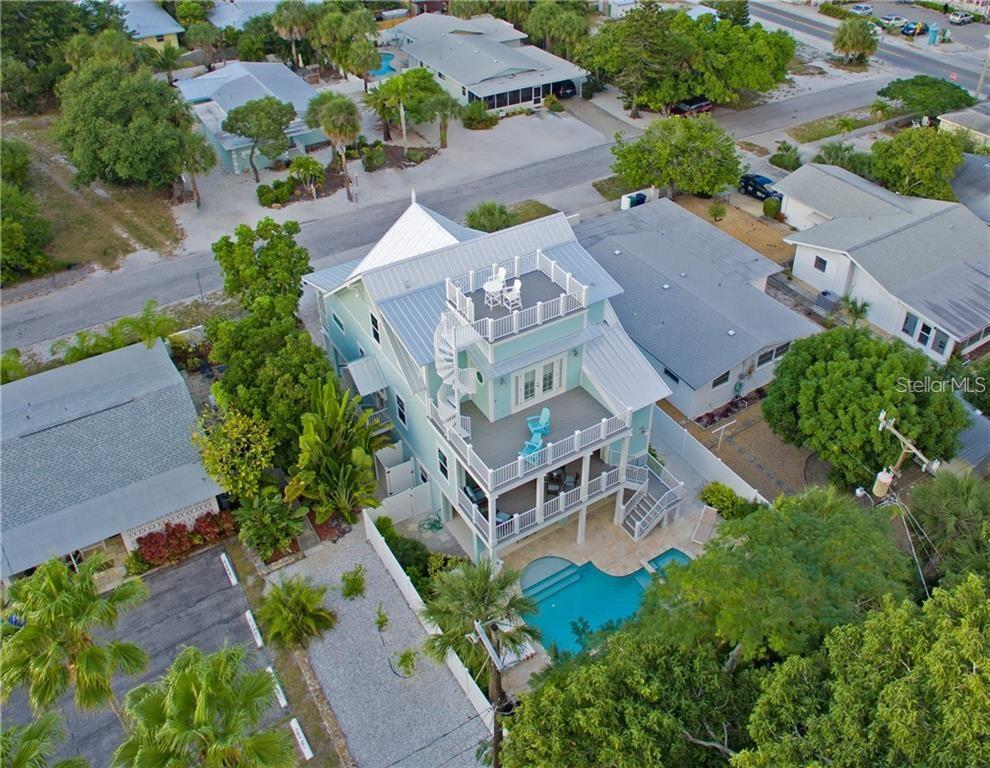 Aerial of 109 Palm Avenue - Single Family Home for sale at 109 Palm Ave, Anna Maria, FL 34216 - MLS Number is A4481814