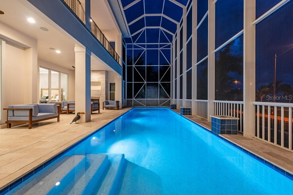 Swim Laps At Night - Single Family Home for sale at 121 Seagull Ln, Sarasota, FL 34236 - MLS Number is A4483951