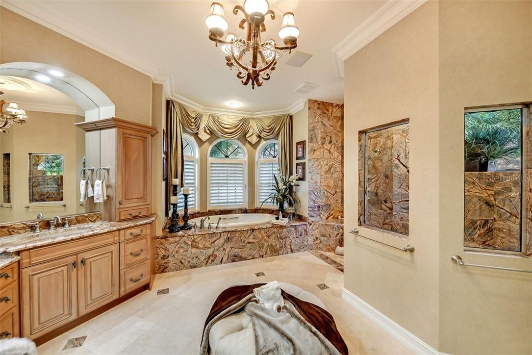So elegant ... Calgon take me away please !! The oversized hydrotherapy tub can help you relax. - Single Family Home for sale at 8263 Archers Ct, Sarasota, FL 34240 - MLS Number is A4483993