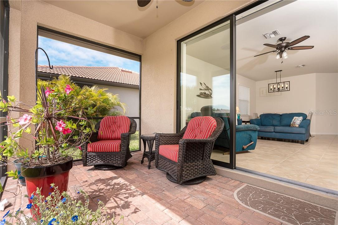 Private patio area - Villa for sale at 13883 Botteri St, Venice, FL 34293 - MLS Number is A4493523