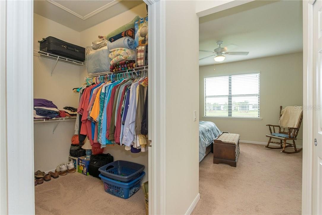 2 large walk in closets in the master suite - Villa for sale at 13883 Botteri St, Venice, FL 34293 - MLS Number is A4493523