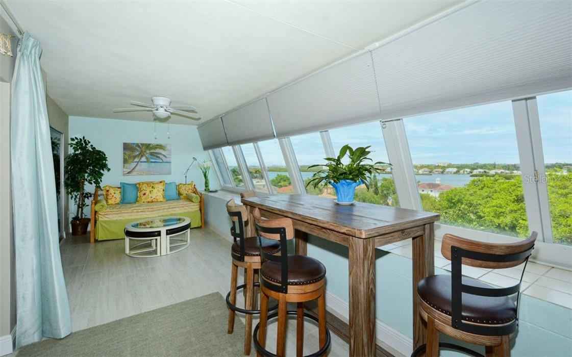Lanai and view - Condo for sale at 1200 E Peppertree Ln #602, Sarasota, FL 34242 - MLS Number is A4495963