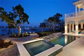 Pool Dusk - Single Family Home for sale at 1238 Sharswood Ln, Sarasota, FL 34242 - MLS Number is A4149275