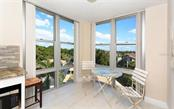 Eat-in area with southern views - Condo for sale at 1701 Gulf Of Mexico Dr #505, Longboat Key, FL 34228 - MLS Number is A4170632