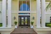 Majestic front entrance - Single Family Home for sale at 4298 Boca Pointe Dr, Sarasota, FL 34238 - MLS Number is A4176372