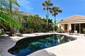Courtyard pool and Guest House - Single Family Home for sale at 602 Weston Pointe Ct, Longboat Key, FL 34228 - MLS Number is A4178531