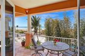 Terrace with beach and Gulf views - Single Family Home for sale at 166 Bryant Dr, Sarasota, FL 34236 - MLS Number is A4203504