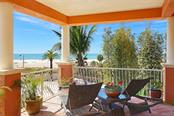 Covered terrace with beach and Gulf views - Single Family Home for sale at 166 Bryant Dr, Sarasota, FL 34236 - MLS Number is A4203504