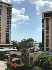 Sparkling bay view from the terrace. - Condo for sale at 711 S Palm Ave #302, Sarasota, FL 34236 - MLS Number is A4402381