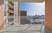 Large pool for lounging or laps - Condo for sale at 1350 Main St #1007, Sarasota, FL 34236 - MLS Number is A4410487