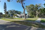 View from the corner of Mietaw and Illehaw - Single Family Home for sale at 2300 Mietaw Dr, Sarasota, FL 34239 - MLS Number is A4423151