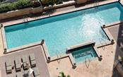 The large pool, spa and pool deck - Condo for sale at 1350 Main St #1201, Sarasota, FL 34236 - MLS Number is A4427507