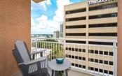 Terrace off the dining room - Condo for sale at 1350 Main St #1001, Sarasota, FL 34236 - MLS Number is A4472708