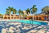 Resort style pool with clubhouse and fitness center - Condo for sale at 5591 Cannes Cir #506, Sarasota, FL 34231 - MLS Number is A4484243