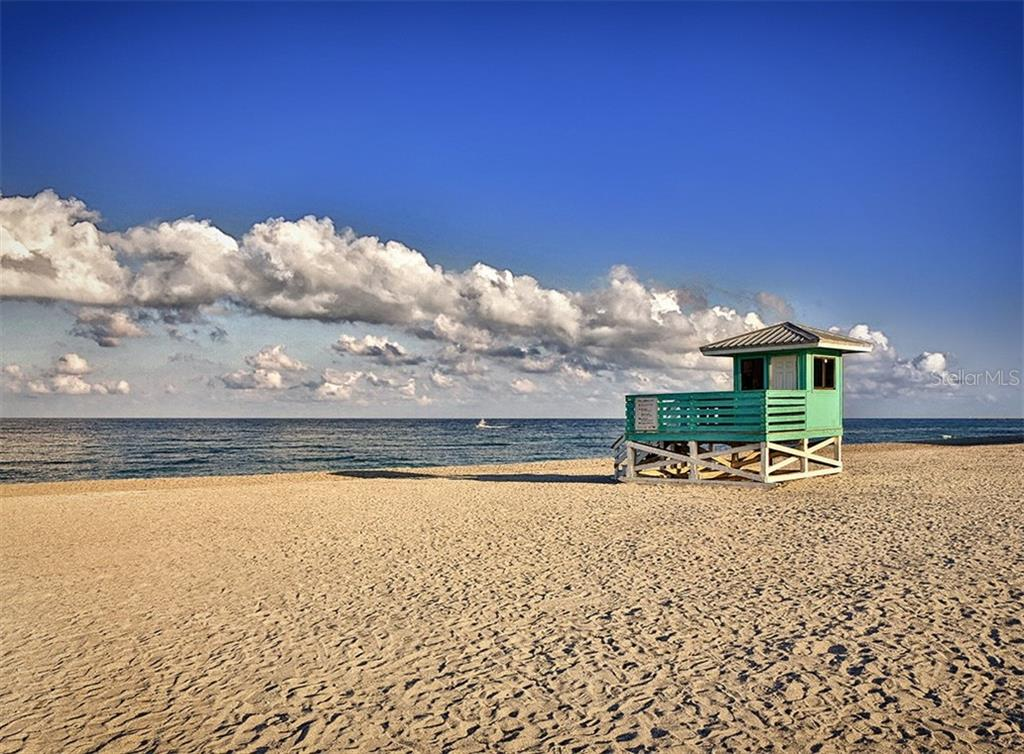 Venice Public Beach - your are just a few steps away from this beautiful beach. - Condo for sale at 100 The Esplanade N #4, Venice, FL 34285 - MLS Number is N6100334