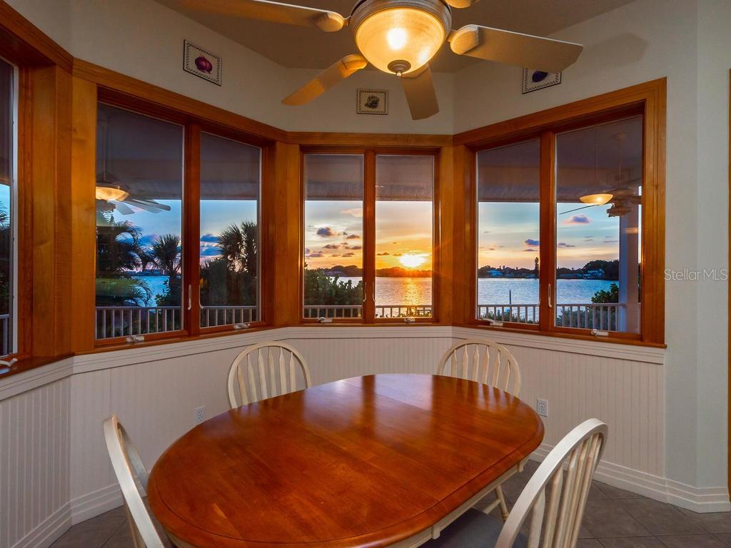 View of the sunset from the dinette - Single Family Home for sale at 743 Eagle Point Dr, Venice, FL 34285 - MLS Number is N6101092