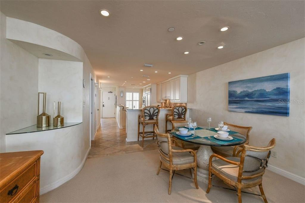 LOOKING BACK FROM THE DINING AREA - Condo for sale at 5740 Midnight Pass Rd #505 F, Sarasota, FL 34242 - MLS Number is N6102195