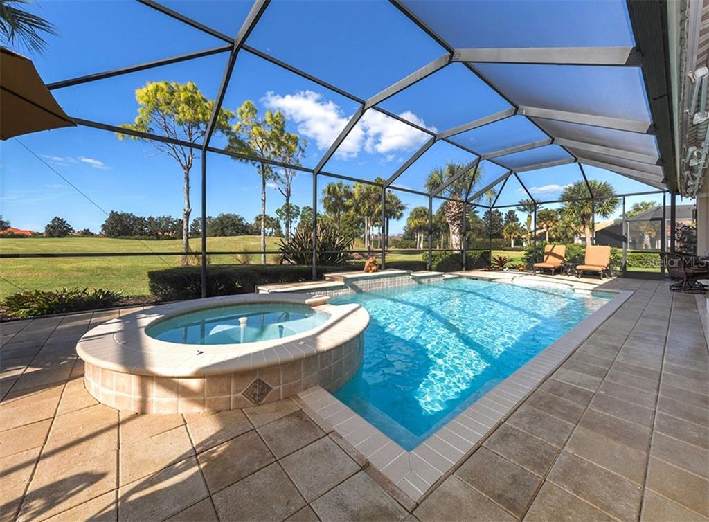 Spa, pool - Single Family Home for sale at 110 Martellago Dr, North Venice, FL 34275 - MLS Number is N6103159